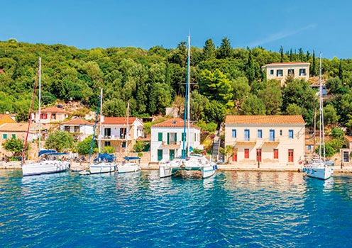 The pretty port of Ithaki