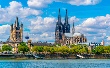 Cathedral and St Martin church, Cologne