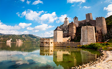 Medieval fortress in Golubac, Serbia