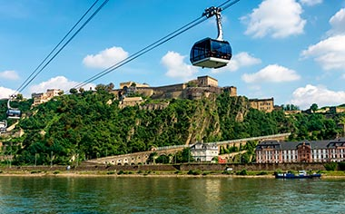 Ehrenbreitstein Fortress and Cable Car in Koblenz