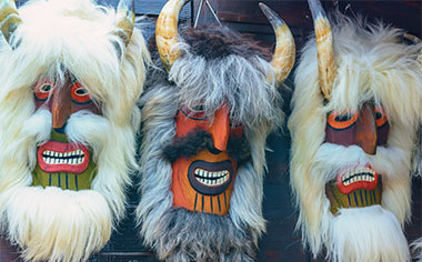 Traditional carnival masks, Mohacs