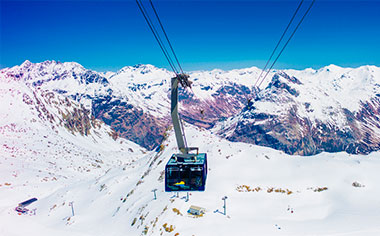 Cable Car to Diavolezza, St Moritz