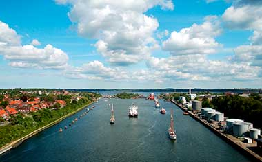 Cruise the Kiel Canal in daylight