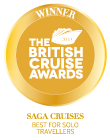 The British Cruise Awards 2019 Winner Saga Cruises Best for Solo Travellers