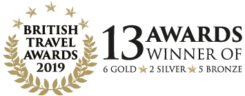 14 Awards at the British Travel Awards 2019 - 6 Gold, 2 Silver and 5 Bronze
