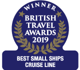 British Travel Awards 2019 Winner Best Small Ships Cruise Line