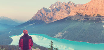 Take a moment to soak up the spectacular mountain views around Banff
