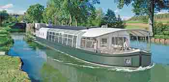 An artist's impression of Natalia Backwaters Barge