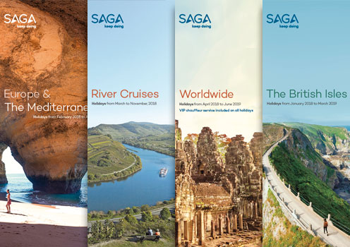 Our Europe and the Mediterranean, River Cruises, Worldwide and The British Isles brochure covers for December 2017