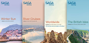 Our Winter Sun, River Cruises, Worldwide and British Isles brochure covers