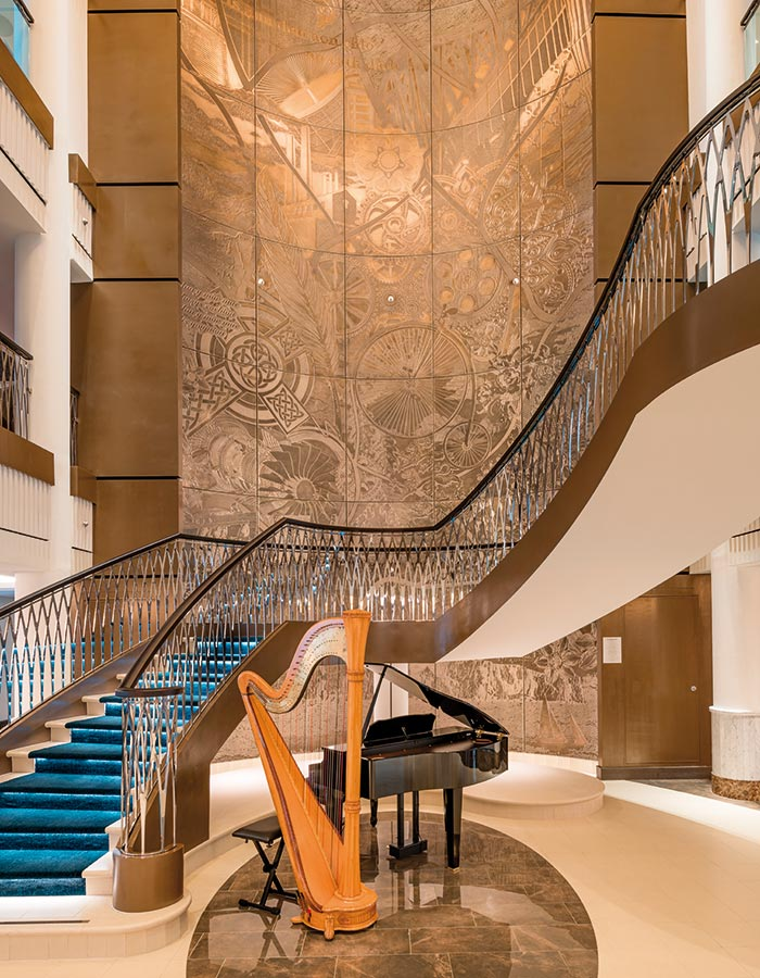The Atrium's grand staircase