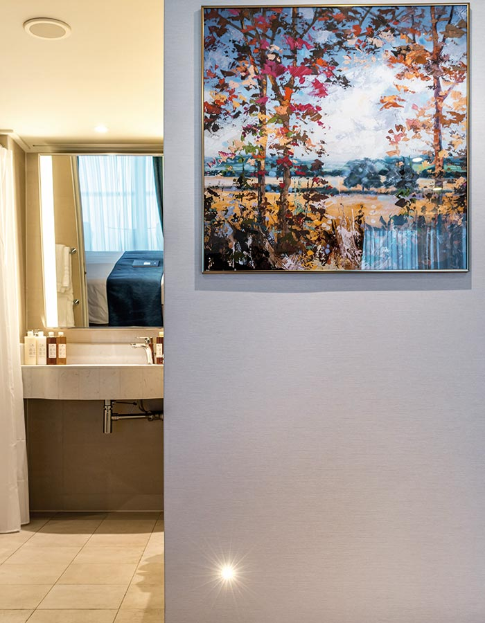 Artwork adorns the walls in our Adapted Junior Suite