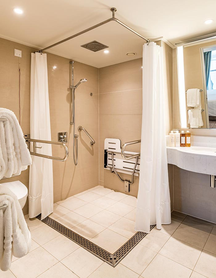 An Adapted Junior Suite bathroom