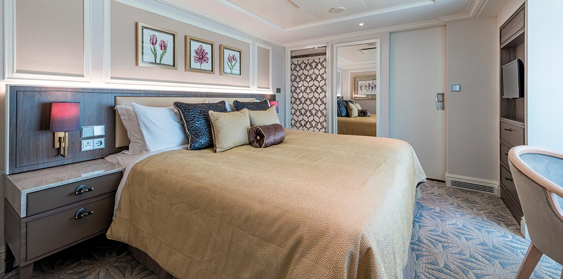 The luxurious Rose Suite bedroom