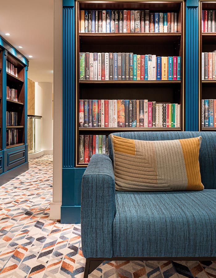 Browse and borrow books during your cruise