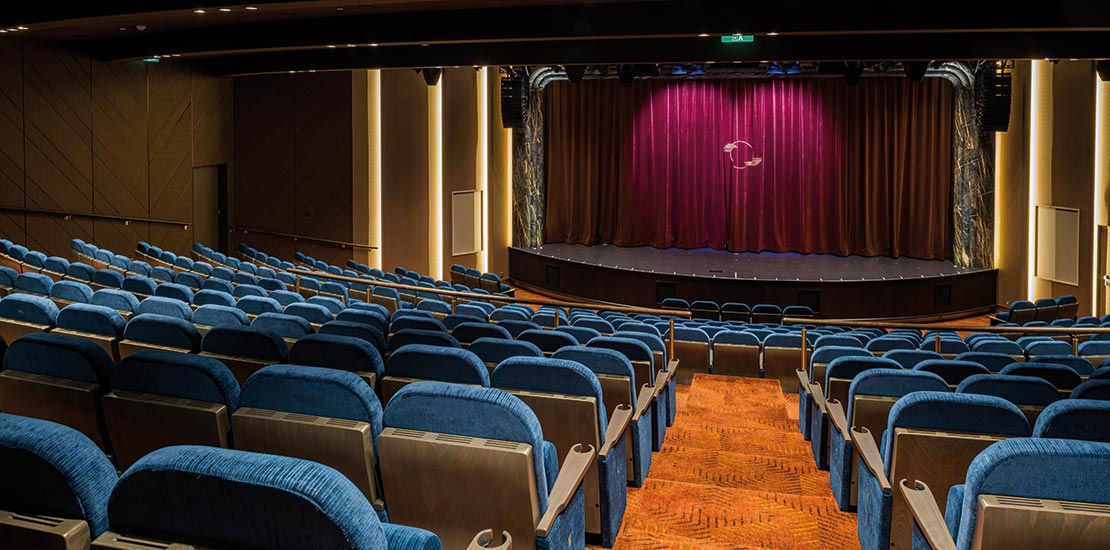 Our first theatre at sea