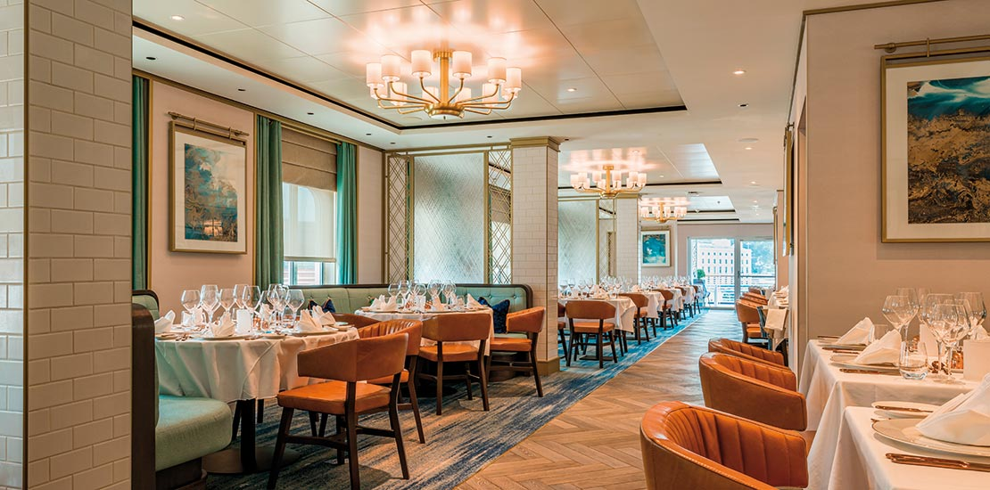 Coast to Coast is Spirit of Discovery's world-class seafood restaurant