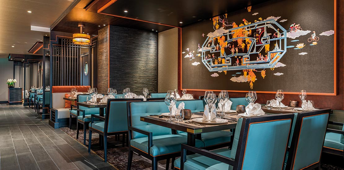 East to West is Spirit of Discovery's Asian inspired restaurant