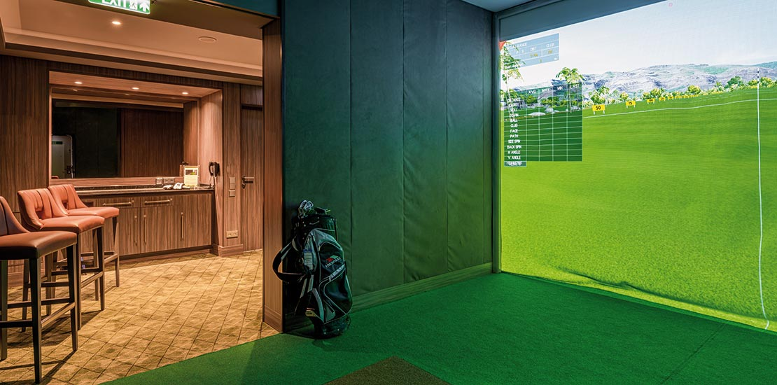 The state-of-the-art digital golf simulator onboard Spirit of Discovery