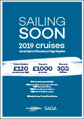 2019 Cruises sailing soon brochure cover