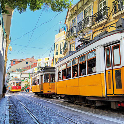 Take a tram ride through historic streets