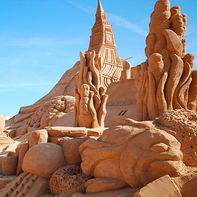 Amazing sculptures from the International Sand Sculpture Festival