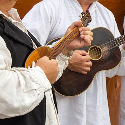 Croatian musicians in traditional dress