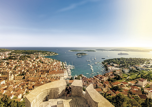 Hvar town and harbour, Croatia