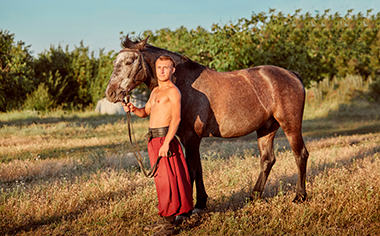 Cossack and his horse
