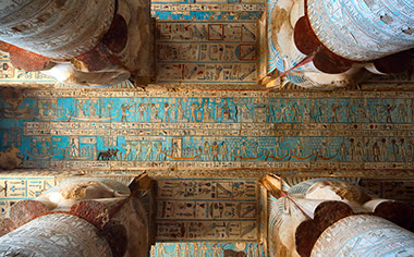 Inside Dendera Temple