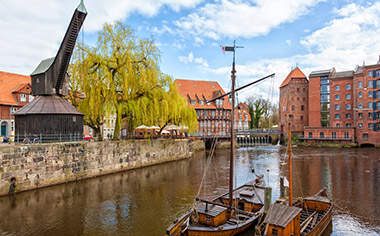 The Alten Crane at the historic harbour of Lüneburg