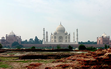 The Taj Maha as seen from Mahtab Bagh