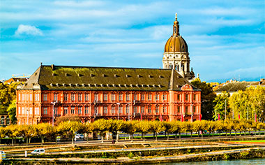 The Electoral Palace and the Christ Church, Mainz