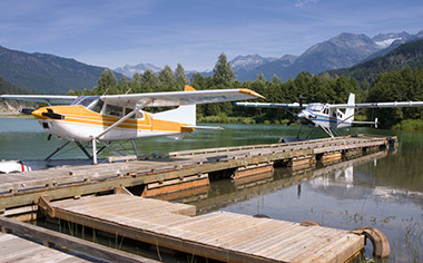 Seaplanes at Whistler, British Columbia