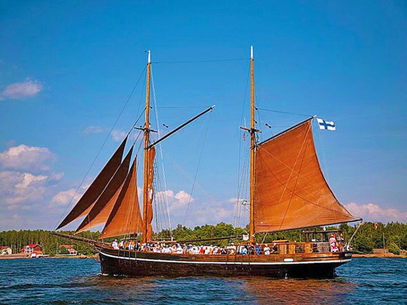 Sail around the archipelago on board a Tall Ship