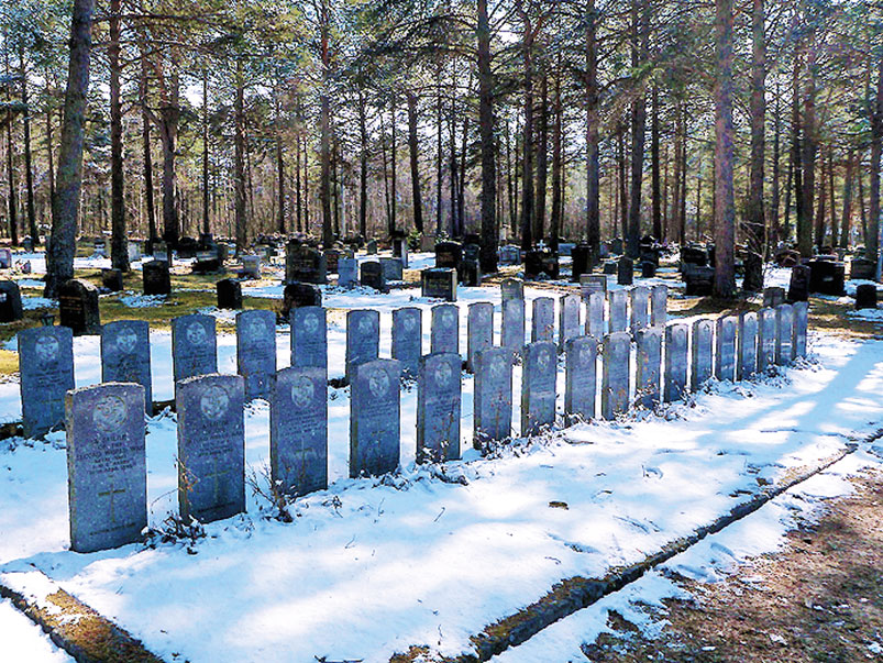 Narvik's War Cemetery includes 34 Commonwealth graves