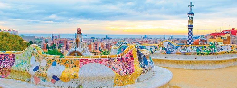 Park Guell by Gaudi in Barcelona